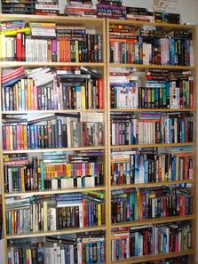 En av mina bokhyllor