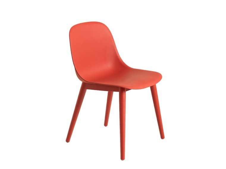 Muuto-Fiber-Side-Chair-Wood-Base-Dusty-Red