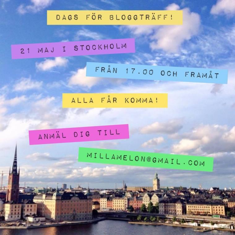 Bloggträff i Stockholm 21 maj